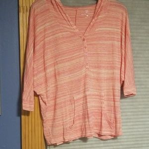 Tangerine top, size M, by NY & Co
